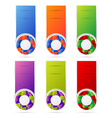 banners set with cubbes form vector image