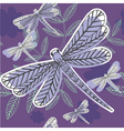 Dragonfly pattern vector image