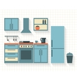Kitchen with furniture vector image