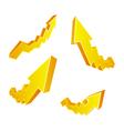 Golden Arrows vector image vector image