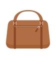 Terracotta women leather handbag fashion flat vector image
