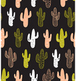 Hipster cactus seamless pattern Cacti tribal boho vector image