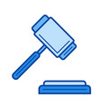 auction line icon vector image