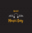 banner of world music day flat vector image