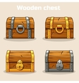 Closed wooden treasure chest vector image
