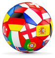 colorful ball with euro 2016 countries vector image