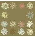 Cute Retro Snowflakes EPS 8 vector image