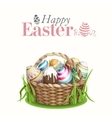 Easter Background With A Basket vector image