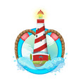 lighthouse symbol logo design vector image
