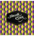 Mardi Gras or Shrove Tuesday label vector image