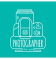 Photographer for you vector image