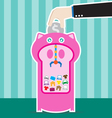 piggy bank machine vector image