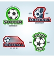 Soccer Colored Logos vector image