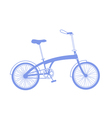 Blue bicycle on white background vector image