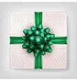 Green Christmas present EPS 10 vector image