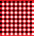 red and black plaid fabric pattern vector image vector image
