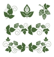 hop borders and design elements vector image
