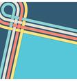 retro blue stripes background vector image