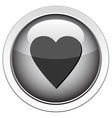 heart follow icon vector image vector image