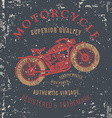 vintage motorcycle design for tee shirt graphic vector image
