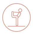Man practicing yoga line icon vector image