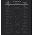 Car service repair Infographics vector image