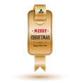 Christmas gold tag vector image