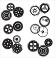 Gear and cogwheel set vector image