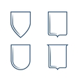 Heraldic shield shapes vector image