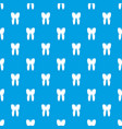 human tooth pattern seamless blue vector image