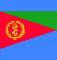 national flag of eritrea vector image