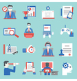 Set of human resouces icons for design vector image