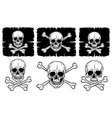 set of skulls and crossbones vector image