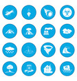 natural disaster icon blue vector image