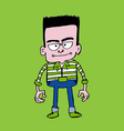 Hipster fashion character people in vector image