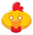 mask cock vector image