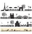 Paris streets vector image