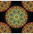 Seamless mandala over black background Vitage vector image