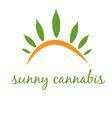 concept icon cannabis with sun vector image