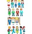 kids cartoon set vector image