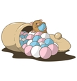 hamster bonbons vector image vector image