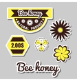 Apiary Labels And Flowers vector image