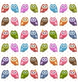 Background with owls and owlets vector image