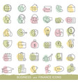 business icon set business icon set vector image
