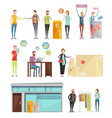charity decorative elements collection vector image