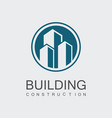 circle building construction logo vector image
