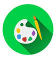 Flat design icon of School palette in ui colors vector image