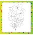 Poppy flower hand drawn vector image