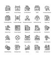 project management line icons set 20 vector image