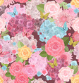 vintage seamless texture with lovely flowers and vector image